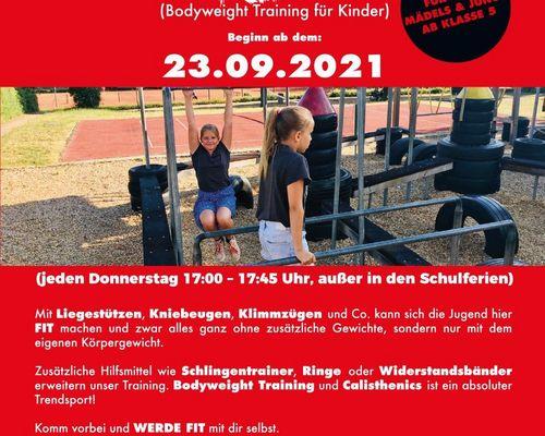 Calisthenics KIDS - Start 23.09.2021