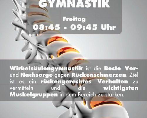 Wirbelsäulengymnastik (WSG) - Start 24.09.2021