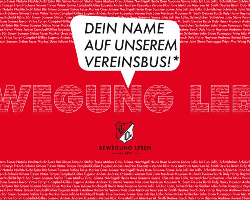 Dein Name auf unserem Vereinsbus